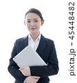 タブレットを持った笑顔のビジネスウーマン 45448482