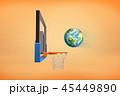 スポーツ バスケ バスケットボールのイラスト 45449890