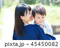 子どもを抱っこする母親 自然 45450082