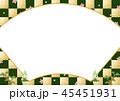 扇 市松 コピースペースのイラスト 45451931