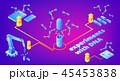 遺伝子 DNA サイエンスのイラスト 45453838