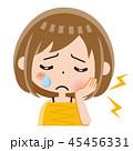 虫歯 女性 歯痛のイラスト 45456331
