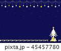 クリスマス クリスマスプレゼント 飾りのイラスト 45457780