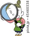 虫眼鏡 女性 発見のイラスト 45460338