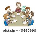 打ち合わせ 会議 ビジネスのイラスト 45460998
