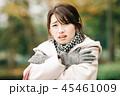 女性 冬 コートの写真 45461009