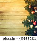クリスマス 背景 オーナメントのイラスト 45463281