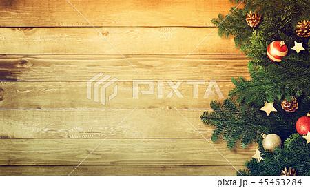 背景-木目-クリスマス-飾り 45463284