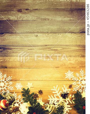 背景-木目-クリスマス-飾り 45463286