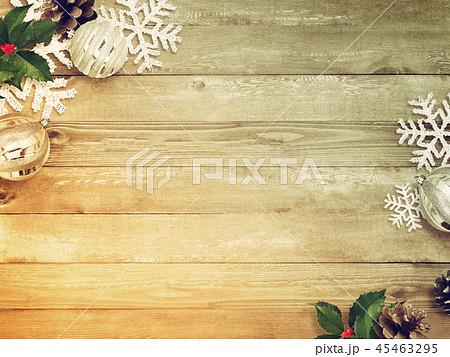 背景-木目-クリスマス-飾り 45463295