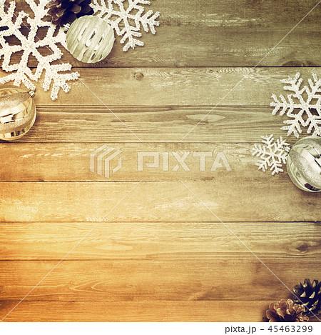 背景-木目-クリスマス-飾り 45463299