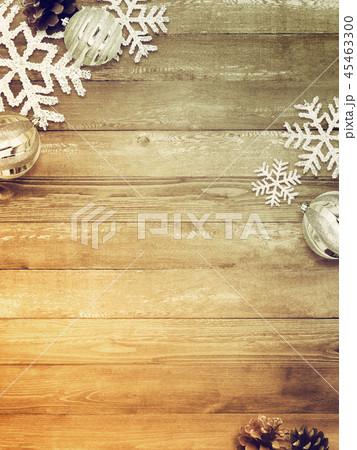 背景-木目-クリスマス-飾り 45463300
