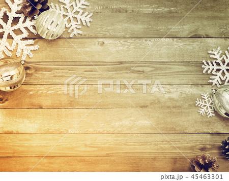 背景-木目-クリスマス-飾り 45463301