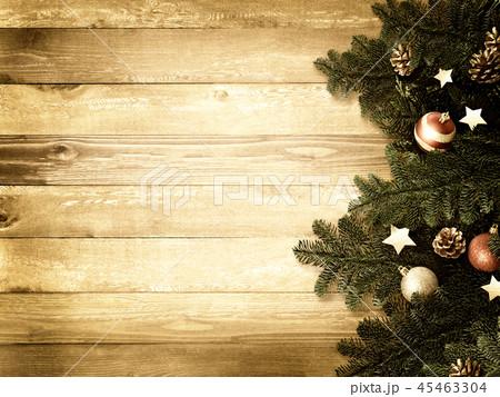 背景-木目-クリスマス-飾り 45463304