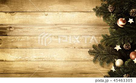 背景-木目-クリスマス-飾り 45463305