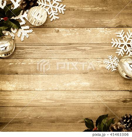 背景-木目-クリスマス-飾り 45463306