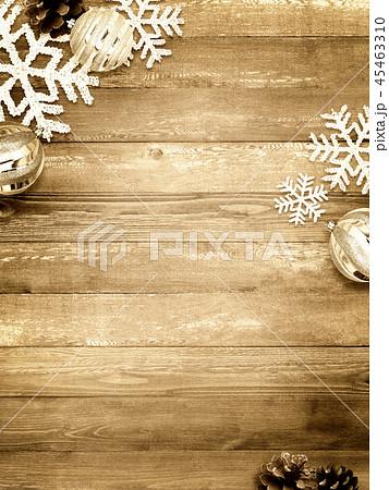 背景-木目-クリスマス-飾り 45463310