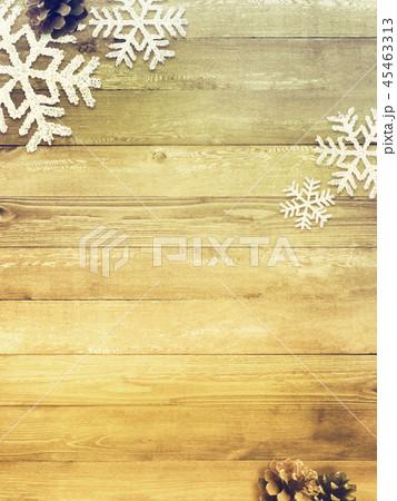 背景-木目-クリスマス-飾り 45463313