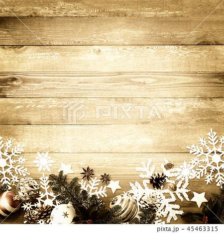 背景-木目-クリスマス-飾り 45463315