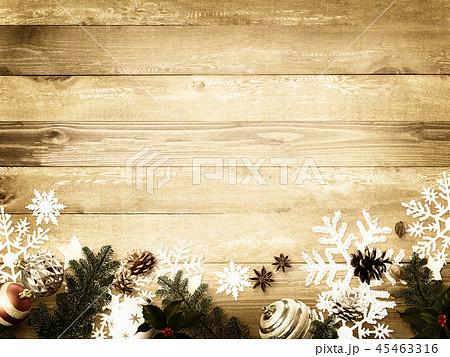 背景-木目-クリスマス-飾り 45463316