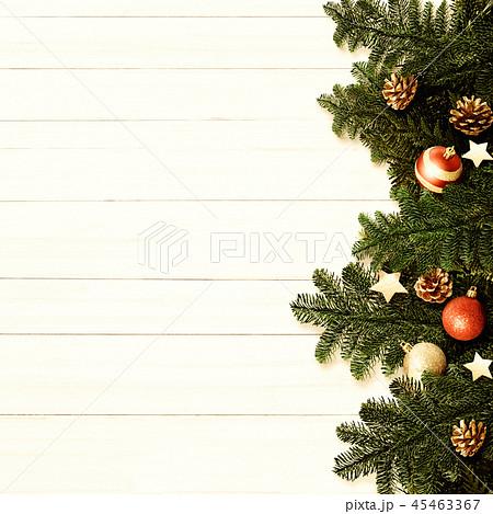 背景-白壁-クリスマス-飾り 45463367