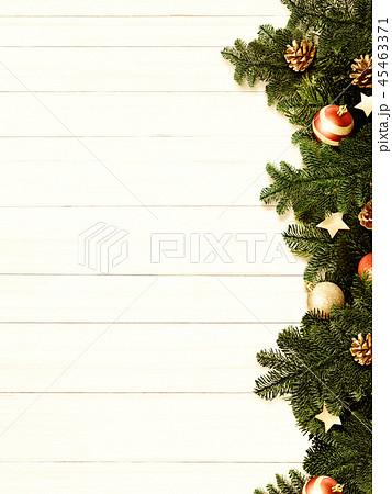 背景-白壁-クリスマス-飾り 45463371