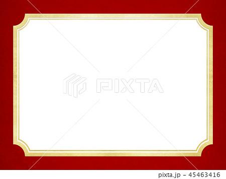 背景-ゴールド-キラキラ-フレーム-レッド 45463416