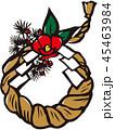 しめ飾り 正月 年賀状素材のイラスト 45463984
