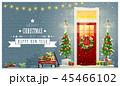 クリスマス リース プレゼントのイラスト 45466102