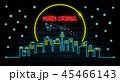 クリスマス グリーティング 月のイラスト 45466143