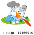 噴火 活火山 富士山のイラスト 45466510