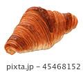 パン クロワッサン 食べ物のイラスト 45468152