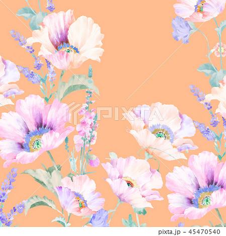透明水彩 水彩画 花 45470540