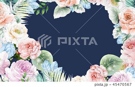 透明水彩 水彩画 花 45470567