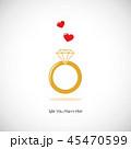 指輪 ウェディング ウエディングのイラスト 45470599
