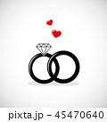 指輪 ハート ハートマークのイラスト 45470640