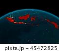 地球 インドネシア カントリーのイラスト 45472825