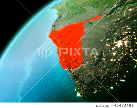 Namibia from space in evening 45473483