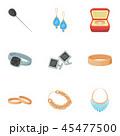 ジュエリー 宝飾品 アクセサリーのイラスト 45477500
