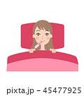 妊活 女性 基礎体温のイラスト 45477925