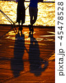 海 夕日 シルエットの写真 45478528