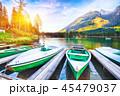ボート 湖 景色の写真 45479037