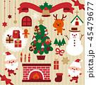 クリスマス 飾り かわいいのイラスト 45479677