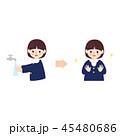 子供 女の子 手洗いのイラスト 45480686