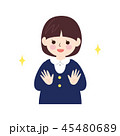 子供 女の子 手洗いのイラスト 45480689