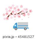 素材-桜とトラック 45481527