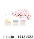 素材-桜と住宅1 45481528