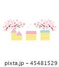 素材-桜と住宅2 45481529