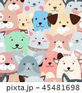 わんこ 犬 ベクターのイラスト 45481698