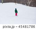 子供 雪 後姿の写真 45481786